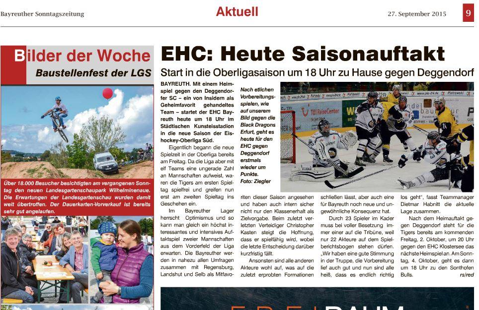 Bayreuther Sonntagszeitung 2015-09-27