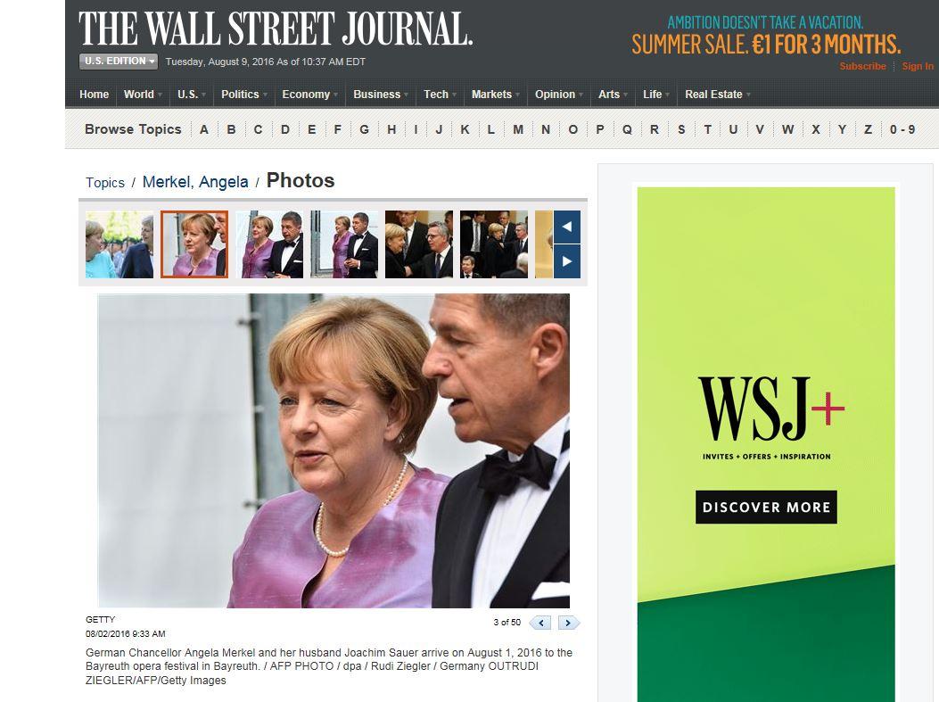 THE WALL STREET JOURNAL - Angela Merkel